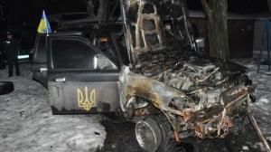 Запорожье, автомобиль, Самооборона, сожгли, водитель, происшествие