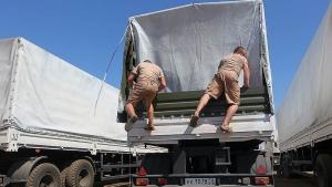 гуманитарная помощь рф, гумконвой, донбасс, донецк, луганск