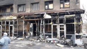 донецк, пожар, днр. восток украины, происшествия, общество, магазин