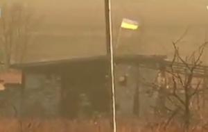 Украина, Донбасс, ДНР, боевики, Донецкий аэропорт, флаг Украины, видео