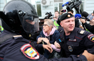 Россия, агрессия, митинг, москва, соболь, протест, акция, арест