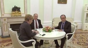 путин, меркель, олланд, переговоры, пресса