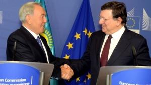 назарбаев, баррозу, евросоюз, казахстан, экономика, вто