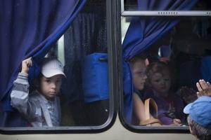 Горловка, АТО, волонтеры, Никитовка, автобусы, переселенцы