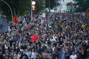 G20, саммит, Путин, Трамп, США, Меркель, Германия, Гамбург, беспорядки, видео, происшествия, большая двадцатка, демонстрация