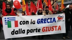 Рим, Италия, митинг, Греция, новая политика, жесткая экономия, восток Украины, война