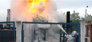 ГосЧС, пожара на Петровке , возгорание на Петровке, пожар в Киеве