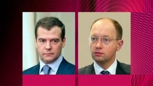 Россия, Украина, Медведев, Яценюк, бизнес, политика, телефонный разговор