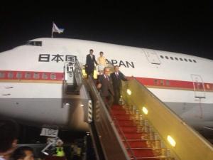 аэропорт, встречали премьер-министров Канады и Японии