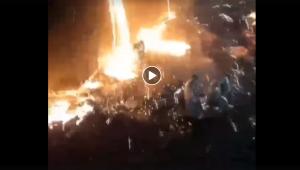 украина, азовсталь, ЧП, видео, авария, чугун, происшествие, мариуполь