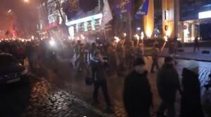 киев, бандера, факелы, марш, трансляция