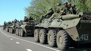 луганск, рф, колонна военнйо техники, россия