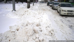 снег, украина