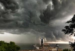 одесса, ливень, ураган, фото, черное море, непогода, происшествия, новости украины