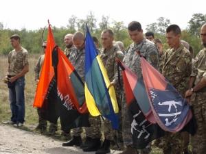 правый сектор, олег дынька, боец ато, кадры, прощание, похороны, видео, ато, донбасс, всу, армия украины, новости украины