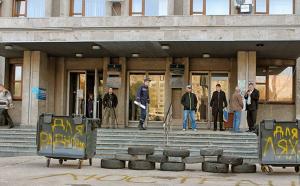 Славянск, исполком, Украина, активисты, блокирование работы, Донбасс, Донецкая область