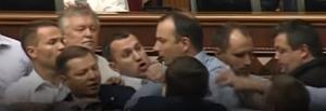 ляшко, соболев,  набу, видео, потасовка, микрофон, политика, верховная рада, новости украины