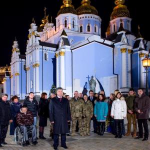 Порошенко, традиция, общество, Новый год, Украина, Михайловский Златоверхий собор