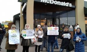Киев, новости Украины, происшествия, Макдональдс, Березняки, митинг