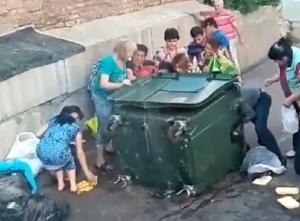 самара, мусорный контейнер, видео, супермаркет, бургеры, бананы, россияне, соцсети, новости россии, толпа
