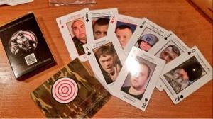 Украина, игральные карты, лица террористов, Донбасс