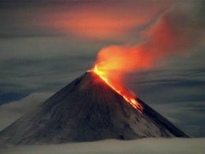 вулкан, извержение, ключевский