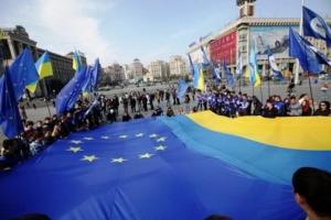 Киев, шествие, столица, флаги, Литва, Украина, посольство