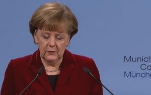 Выступление Ангелы Меркель в Мюнхене 07.02.2015.