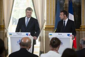 украина, франция, порошенко, макрон, минские соглашения, нормандская четверка, донбасс, ато, крым, аннексия