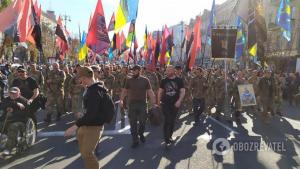 Украина, политика, зеленский, марш, капитулция, донбасс, война, формула Штайнмайера, протест