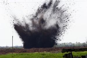 взрыв, александровск, полигон, луганск, боеприпасы