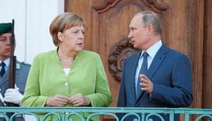 путин, меркель, газопровод, встреча, северный поток-2, европа, сша, санкции, украина, в обход украины
