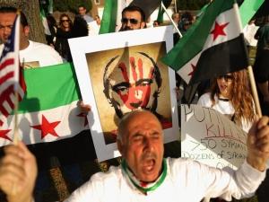 вашингтон, посольство рф, митинг, путин, сирия, убийца