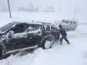 непогода, снег, затор, пробка, западная украина, снегопад, прогноз погоды, общество