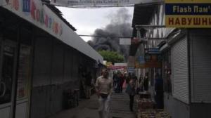 Рынок Петровка, пожар в Киеве,