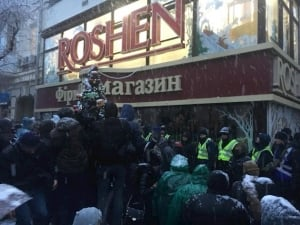 саакашвили, митинг, киев, марш, погром, фото, Roshen