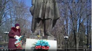 новости украины, луганск это украина, отважная бабушка из луганска, тарас шевченко, видео,