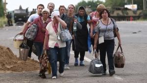 беженцы, украина, россия, дети