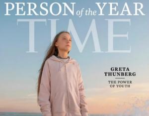 Журнал Time, США, Человек года, Грета Тунберг, Эко-активистка, Самая юная в мире, Экологическое движение, Климат, ООН, Номинантка