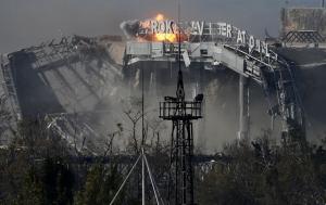 Донецк, обстрел аэропорта, терроризм, новости из соцсетей