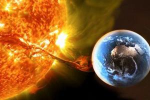 солнце, вспышка, земля, помехи, космос