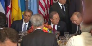 Владимир Путин, Барак Обама, Пан Ги Мун, Россия, США, ООН, политика