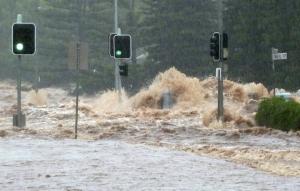 австралия, шторм, мегаполис, брисбен, океан