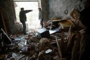 Град, обстрел, дома, Киевский район, дома, улица, жители