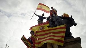 Испания, Каталония, правительство, референдум за независимость, 27.10.17, митинг