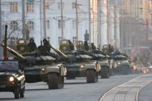 Донецк, бронетехника, колонна, ополчение