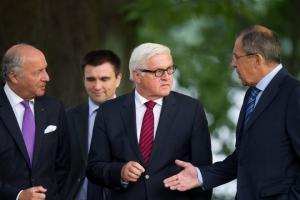 франция, россия, германия, украина, политика, мид франции, мид рф, нормандская четверка, минские договоренности