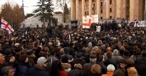 протесты в Грузии, новости, выборы президента грузии, Вашадзе, Зурабишвили, Саакашвили, Тбилиси, митинг
