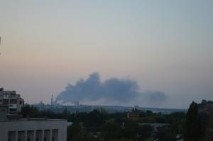 макеевка, пожар, ясиновский завод, ато