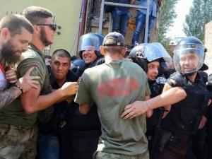 происшествия в Одессе, активисты Одессы, дом-стена, полиция Украины, дом-стена, воронцовская улица, одесса, полиция, мвд украины